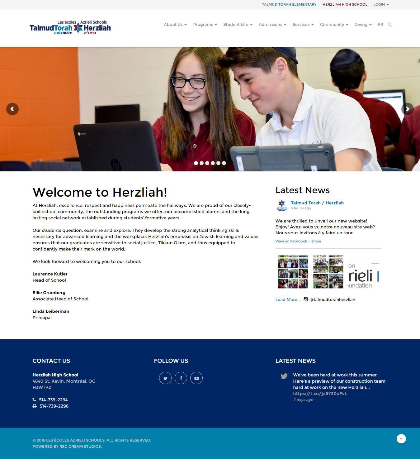 UTT / Herzliah Website